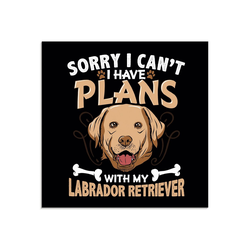 Artland Glasbild Witziges Hundebild, Humor (1 Stück) 30 cm x 30 cm x 1,1 cm