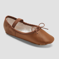 Freestyle by Danskin Girls' Ballet Shoes - Brown 9