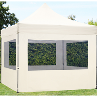 TOOLPORT Faltpavillon 3,00 x 3,00 m Alu 32 mm inkl. Seitenteile creme