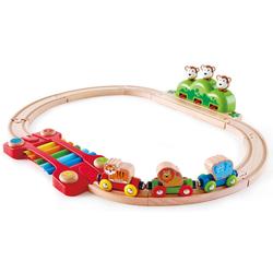 Hape Spielzeug-Eisenbahn Kleines Tier-Eisenbahnset, (Set), aus Holz