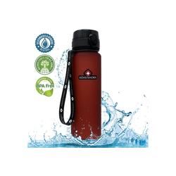 Höhenhorn Trinkflasche Höhenhorn Urach Trinkflasche 1L Wasserflasche Auslaufsicher Sport BPA-Frei rot