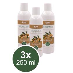 3x 250ml Bio Argan Öl Shampoo Duschbad Sanft Naturkosmetik ohne Parfüm