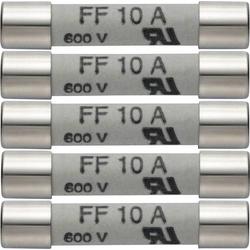 Testo 0590 0005 0590 0005 Sicherung Multimetersicherung 5er Set Ersatzsicherungen 10A/600V 1St.