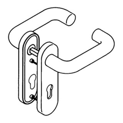HEWI Kurzschildgarnitur 111R01.110 33 Ku.33 BB Drückergarnitur