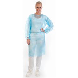 HYGOSTAR® PP-Vlies Schutzkittel, Kittel universell einsetzbar, 1 Packung = 10 Stück, 140x150cm, Farbe: blau