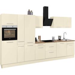 wiho Küchen Küchenzeile Ela, ohne E-Geräte, Breite 360 cm gelb