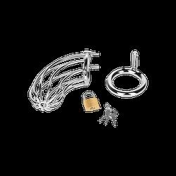 Peniskäfig aus Metall, inkl. Schloss, 12,5 cm