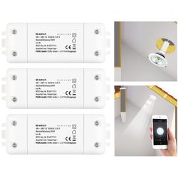 3er-Set WLAN-Schalter mit Dimmer, für Siri, Alexa & Google Assistant
