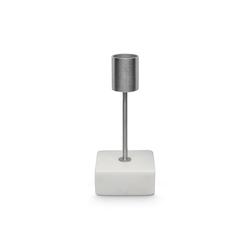 houseproud Kerzenständer Cubus Kerzenständer quadratischer Marmorhalter weiß