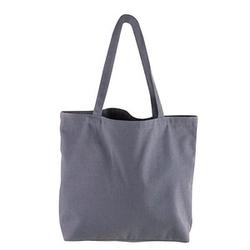 Rayher Einkaufstasche shopper Basic Stoff grau