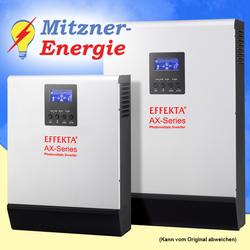 1000Wp-PV Solaranlage / 6,2KWh 24V Batteriespeicher / Nutzbar 3,1KWh / Hybrid Set