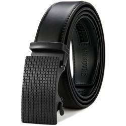 TOPMELON Ledergürtel 3,5 cm breit, Einstellbar Business-Gürtel, mit Automatischen schnalle