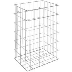 Wagner EWAR Gitterkorb, 72 Liter, Papierkorb für Bodenaufstellung und Wandmontage geeignet, WP 150-1, Edelstahl Optik