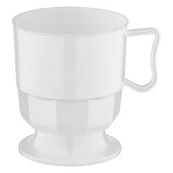 Royal Cup Henkeltasse Kaffeetasse 0,2l | 200ml weiß PS, 12 Stk.