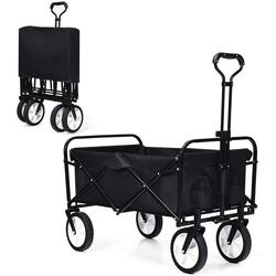 COSTWAY Bollerwagen Bollerwagen, mit Flaschenhalter schwarz 100 cm