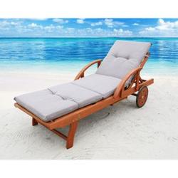 Famous Home Auflage Sand für Gartenliege Liegestuhl  Sonnenliege Relaxliege Polster