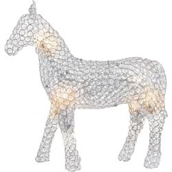 Moderne Pferd klein chrom K9 Kristalle klar  Globo 98101