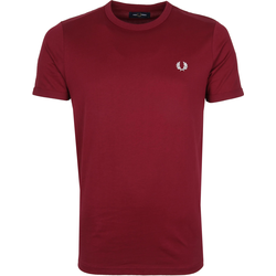 Fred Perry T-Shirt Bordeaux M3519 - Bordeaux Größe L