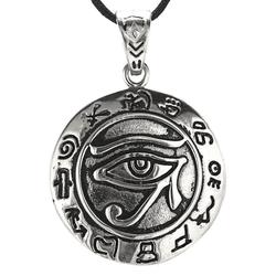 Kiss of Leather Kettenanhänger Auge des Horus Edelstahl Schutz Amulett Horusauge Dreieck
