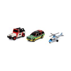 JADA Spielzeug-Auto Jurassic Park 3-Pack A Nano Cars