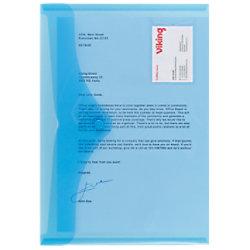 Office Depot Aufbewahrungstaschen DIN A4 Hoch, Quer Blau Polypropylen 5 Stück