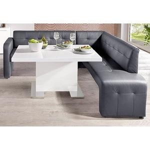 Gala Collezione Eckbank, grau, Gestell aus Massiv-Holz, FSC®-zertifiziert