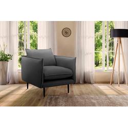 INOSIGN Sessel Somba, mit dickem Keder und eleganter Optik grau