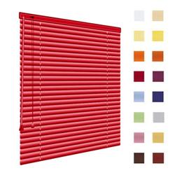 Alu-Jalousien, Jalousien, Horizontaljalousien, Farbe rot, auf Mass gefertigt oder in Standardgroessen, weitere 100 Farben verfuegbar