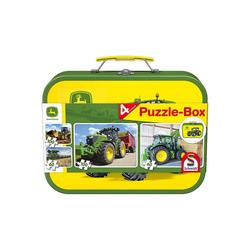 Schmidt Spiele Puzzle-Tasche Puzzlekoffer 2 x 60 + 2 x 100 Teile John Deere