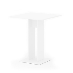 Vicco Säulen-Esstisch Esstisch EWERT Küchentisch Esszimmer Tisch Säulentisch weiß 65x65 cm
