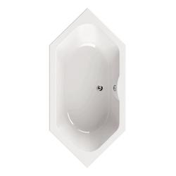 aquaSu Badewanne, (1-tlg), Weiß, 190 x 90 cm, Acryl, 6-Eck Badewanne 6-Eck Badewanne - 90 cm x 44.5 cm x 190 cm