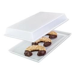 Arzberg Küchenfreunde weiß / Tric weiss Platte mit Deckel transparent im Geschenkkarton 21x33cm Küchenfreunde weiß / Tric weiß 43330-609991-28477
