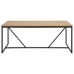 TRESCA Industrial-Esstisch aus Metall und Holz L180 cm