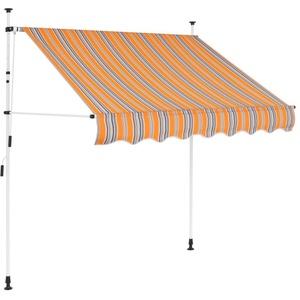 tidyard Einziehbare Balkonmarkise Handbetrieben Klemmmarkise Balkon & Terrasse Markise Manuell Sonnenschutz Textilgewebe + Stahlrahmen Farb- und Größenauswahl