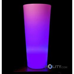 LED-Vase mit mehrfarbigem Licht h10402