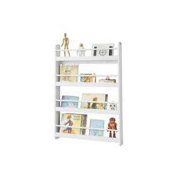 SoBuy Bücherregal KMB08, Kinderregal mit 4 Ablagen für Bücher und Deko 80 cm x 118 cm x 12 cm