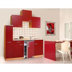 RESPEKTA Küchenzeile, Breite 180 cm rot