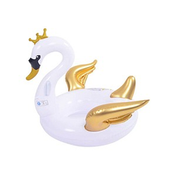 Schwimmtier Schwan weiß, gold