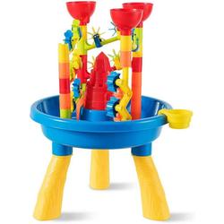COSTWAY Wasserspieltisch Sandkastentisch Kinderspieltisch Strandspielzeug-Set, (30 teilig) 46 cm x 46 cm x 66 cm