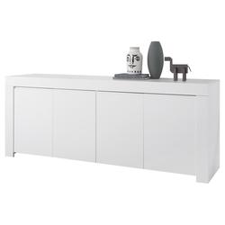 4-türiges Designer-Sideboard L210 cm weiß matt TINO