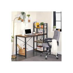 VASAGLE Schreibtisch LWD48X, Schreibtisch, 120 cm langer Computertisch Industrie-Design, vintage