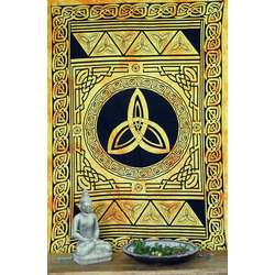 Tagesdecke Indisches Wandtuch, Batik Tagesdecke -.., Guru-Shop