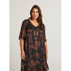 Zizzi Abendkleid Damen Große Größen Kleid Elegant Kurzarm Knielang L (50/52)