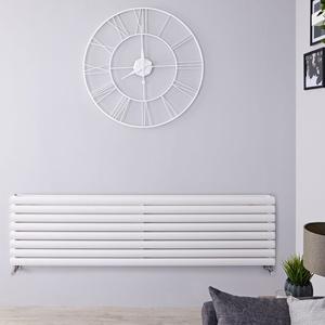 Design Paneelheizkörper Revive 1611W Horizontal Weiß 472 x 1600mm Doppellagig