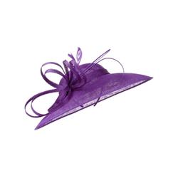 McBurn Strohhut Fascinator lila