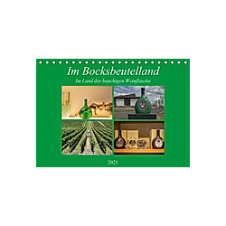 Im Bocksbeutelland (Tischkalender 2021 DIN A5 quer) - Kalender
