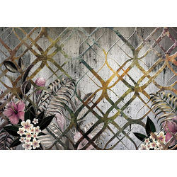 Consalnet Papiertapete Goldenes Motiv/Blumen, floral 3,68 m x 2,8 m