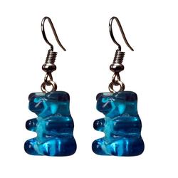 Eyecatcher Ohrring-Set Bärenohrringe. Hakenohrringe. blau