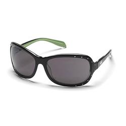 SMITH RAMSEY Sonnenbrille black green strass/grey
