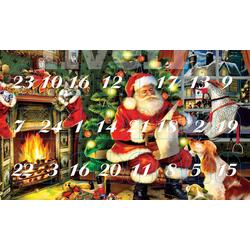 Krebs Glas Lauscha Adventskalender Santa im Haus (Set, 24-tlg), mit Weihnachtsbaumschmuck